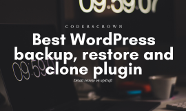 Best WordPress backup, restore and clone plugin
